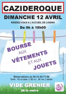 affiche bourse aux vetements printps 2015